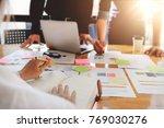 business people meeting... | Shutterstock . vector #769030276