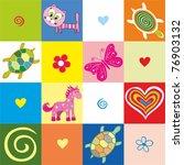 seamless baby background. ... | Shutterstock .eps vector #76903132
