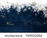 christmas dark background with... | Shutterstock .eps vector #769032046