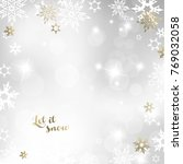 christmas light background with ... | Shutterstock .eps vector #769032058