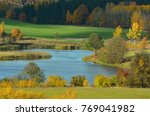 colorful autumn landscape with... | Shutterstock . vector #769041982