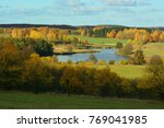 colorful autumn landscape with... | Shutterstock . vector #769041985
