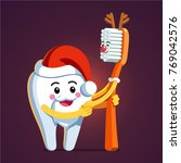animated tooth character... | Shutterstock .eps vector #769042576
