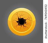 illustration of golden glossy... | Shutterstock .eps vector #769043452