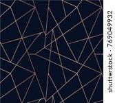 rose gold seamless pattern.... | Shutterstock .eps vector #769049932