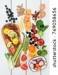 health food for dieting concept ...   Shutterstock . vector #769058656