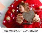 portrait of a girl. girl...   Shutterstock . vector #769058932