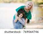 mother and daugther spending...   Shutterstock . vector #769064746