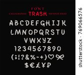 font trash  painted with a... | Shutterstock .eps vector #769066576