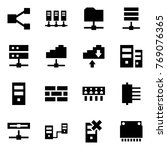 origami style icon set   share... | Shutterstock .eps vector #769076365