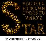 vector sparkle alphabet on a...