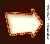 blank illuminated rounded arrow ... | Shutterstock .eps vector #769089022