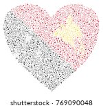 abstract heart shaped flag of... | Shutterstock .eps vector #769090048