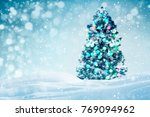 decorated christmas tree... | Shutterstock . vector #769094962