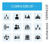 set of 12 editable cooperation... | Shutterstock .eps vector #769096135