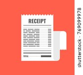 receipt icon. invoice sign.... | Shutterstock .eps vector #769099978