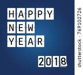 happy new year 2018. mechanical ... | Shutterstock .eps vector #769102726