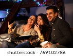 group best friends sitting at... | Shutterstock . vector #769102786