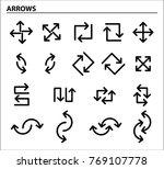 set of black flat arrows....