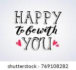 hand sketched lettering... | Shutterstock .eps vector #769108282