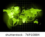 green map of the world