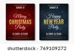 set posters for christmas and... | Shutterstock .eps vector #769109272