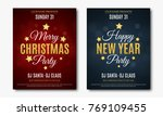 set posters for christmas and... | Shutterstock .eps vector #769109455