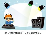 children photo frame with dj... | Shutterstock .eps vector #769109512