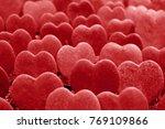 lined up lucky heart or hoya... | Shutterstock . vector #769109866