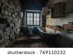Bathroom In Abandoned House By...