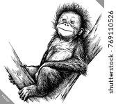 black and white engrave... | Shutterstock .eps vector #769110526