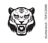 tiger mascot logo. wildcat head....   Shutterstock .eps vector #769113088