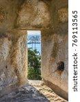 stone window castle  | Shutterstock . vector #769113565