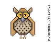 owl pixel icon  in the vector.... | Shutterstock .eps vector #769114426