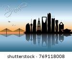 riyadh skyline   saudi arabia   ... | Shutterstock .eps vector #769118008