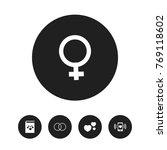 set of 5 editable love icons....