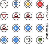 line vector icon set  ... | Shutterstock .eps vector #769119832