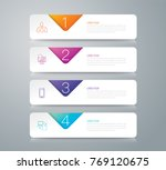 infographics design vector and... | Shutterstock .eps vector #769120675