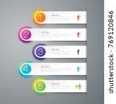 infographics design vector and... | Shutterstock .eps vector #769120846