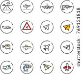 line vector icon set   runway...   Shutterstock .eps vector #769121818