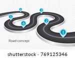 winding 3d road infographic... | Shutterstock .eps vector #769125346