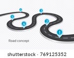 winding 3d road infographic... | Shutterstock .eps vector #769125352