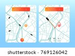 concept of location service.... | Shutterstock .eps vector #769126042