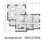 standard furniture symbols used ... | Shutterstock .eps vector #769127896