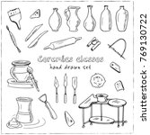 hand drawn doodle ceramic... | Shutterstock .eps vector #769130722