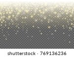 shiny golden stars vector... | Shutterstock .eps vector #769136236