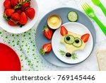funny sandwich for kids  animal ... | Shutterstock . vector #769145446