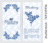 bilberry or blueberry flyer... | Shutterstock .eps vector #769145956