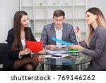 business team meeting. man... | Shutterstock . vector #769146262