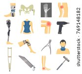 orthopedic icons collection ... | Shutterstock .eps vector #769148182